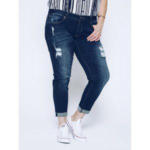 KanCan High Rise Destructed Skinny Jean